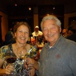 Tara McKnight with her father, Josef Fleischmann at an evening event at Pheasant Run.