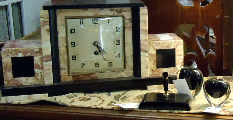 This Art Deco clock set was found at Main Street Merchantile in Aurora.