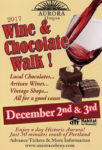 wine chocolate walk